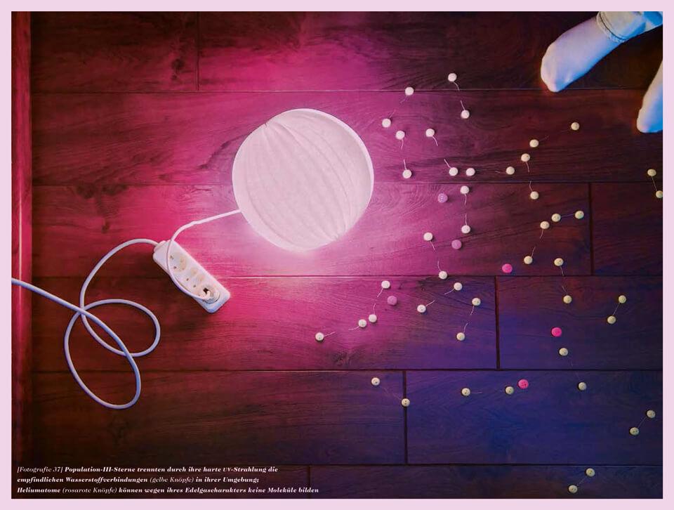 Als das Licht laufen lernte / Eine kleine Geschichte des Universums / Daniela Leitner / Population-III-Stern zerstört Wasserstoffbrücken