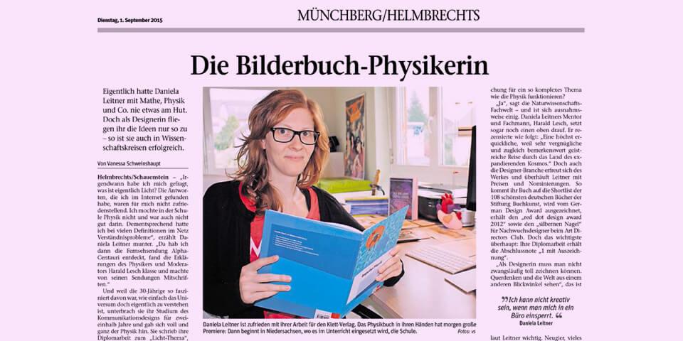 Frankenpost - Ausgabe 1. September 2015 - Bericht über Daniela Leitner