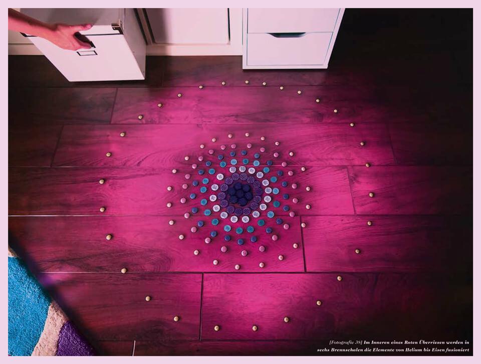 Als das Licht laufen lernte / Eine kleine Geschichte des Universums / Daniela Leitner / Sternenzwiebel im Roten Überriesen