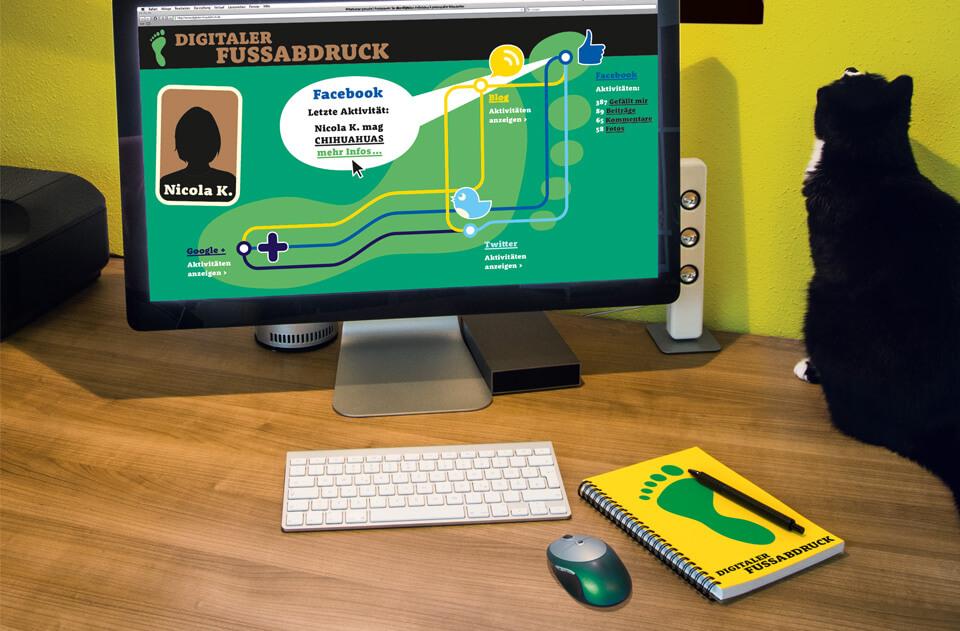 Gehirn und Geist / Serie Arbeit und Karriere / Schreibtisch digitaler Fußabdruck / Daniela Leitner