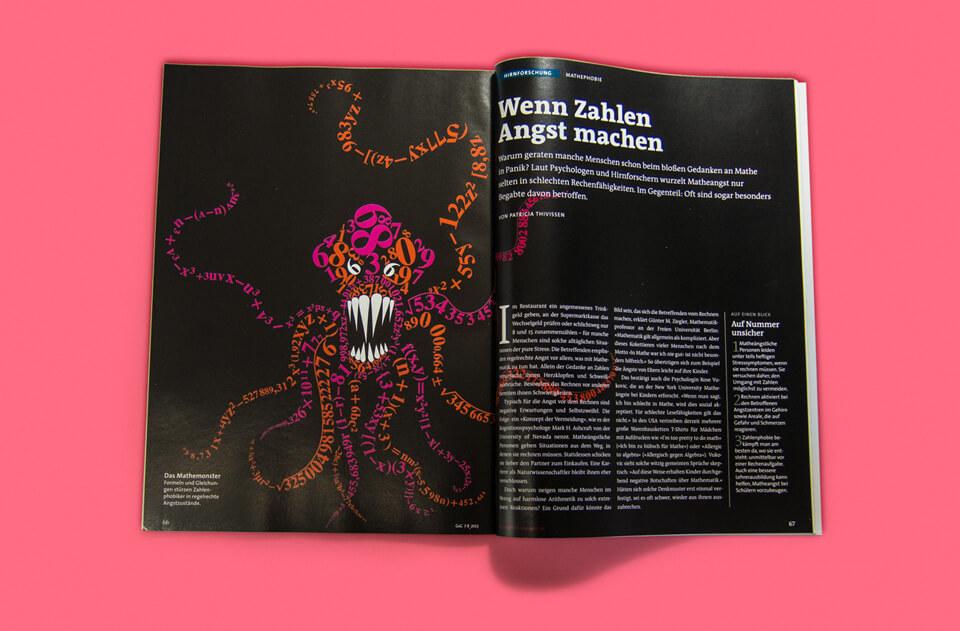 Gehirn und Geist / Spektrum der Wissenschaft / Magazin Ausgabe 7-8 2013 / Tentakelmonster