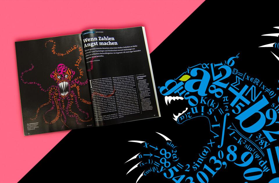 Gehirn und Geist / Spektrum der Wissenschaft / Magazin Ausgabe 7-8 2013 / Mathemonster / Wenn Zahlen Angst machen
