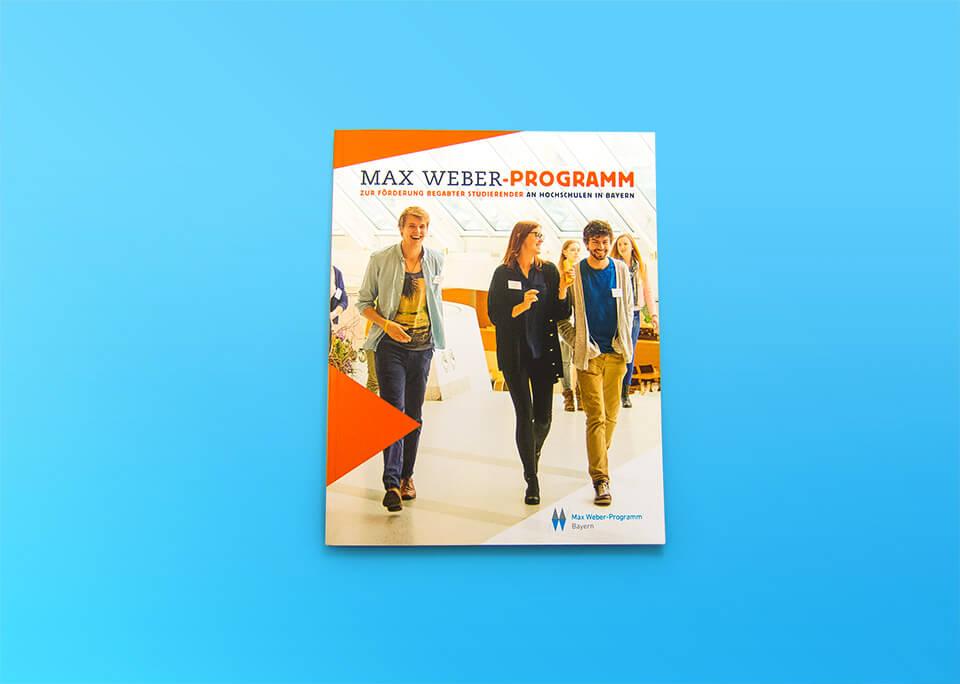 Broschüre Max Weber-Programm zur Förderung begabter Studierender an Hochschulen in Bayern / Cover / © Daniela Leitner