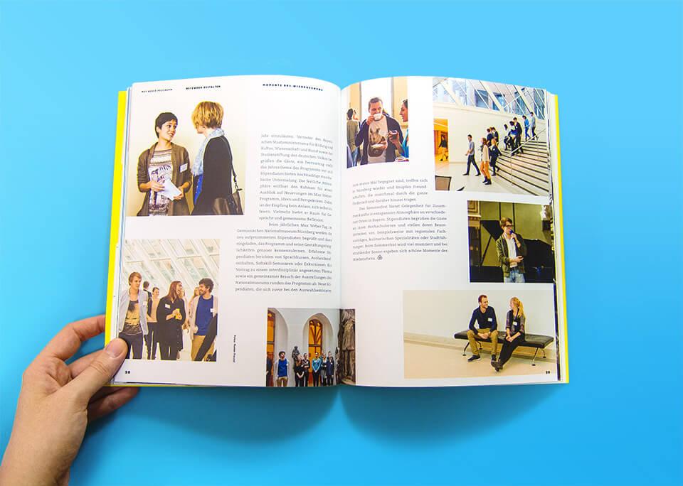 Broschüre Max Weber-Programm zur Förderung begabter Studierender an Hochschulen in Bayern / Innenseiten 28, 29 / Netzwerk gestalten / Tagesveranstaltungen / © Daniela Leitner