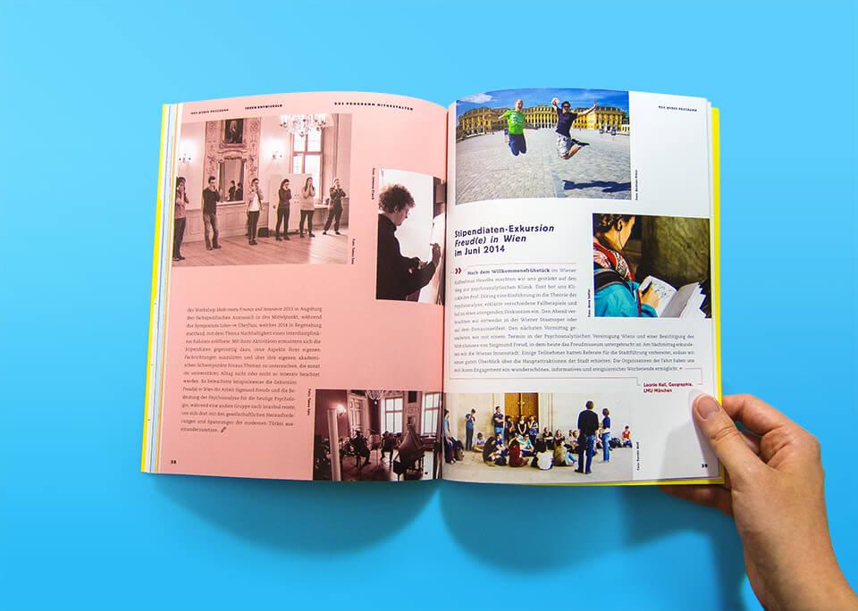 Broschüre Max Weber-Programm zur Förderung begabter Studierender an Hochschulen in Bayern / Innenseiten 38, 39 / Ideen entwickeln / Stipendiaten aktiv! / © Daniela Leitner