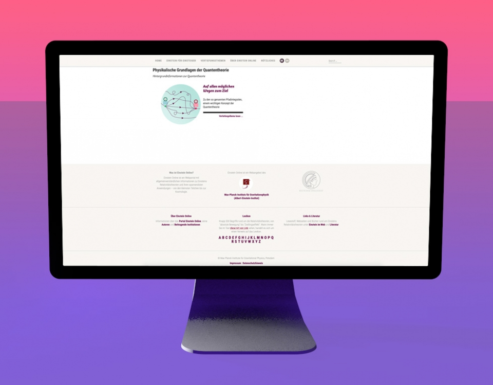 Einstein-Online / Footer / Redesign Website, Infografiken & Illustrationen: Daniela Leitner