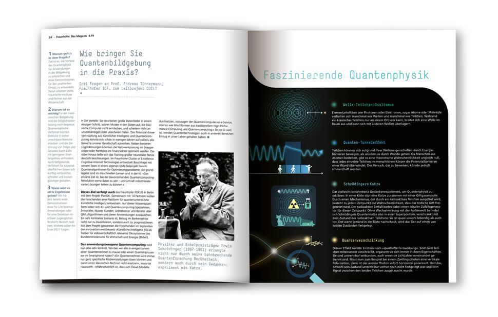 Fraunhofer-Magazin weiter.vorn / Seite Quanteneffekte / Infografik: Daniela Leitner